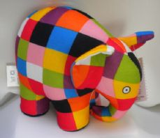 Elmer the Elephant, soft toy.